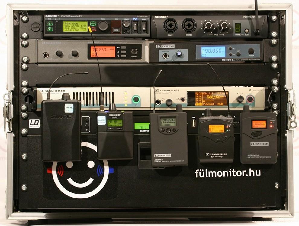 fülmonitor rendszer